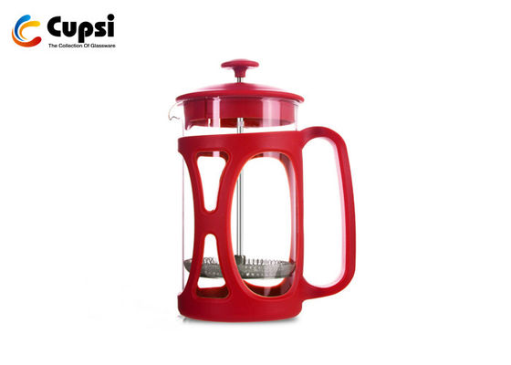 Durable  French Press Coffee Pot , Heat Resistant Borosicate Glass French Press Coffee Maker