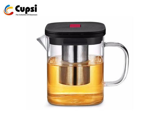 Heat Resistant Glass Tea Kettle Stove Top ,  Removable Glass Teapot With Infuser