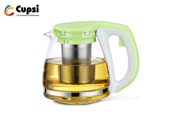 1500ml Green Borosilicate Glass Teapot With Stainless Steel Infuser