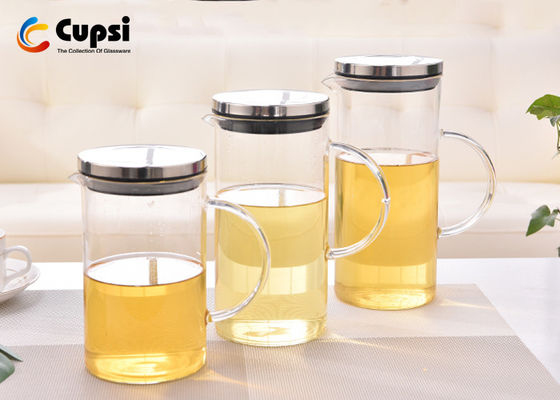 Practical Beautiful Glass Water Pitcher With Stainless Steel Infuser