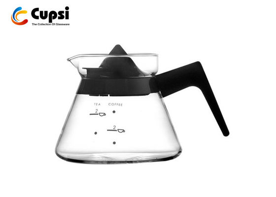 400ml Borosilicate Glass Coffee Server With Water Level Heat Resistant