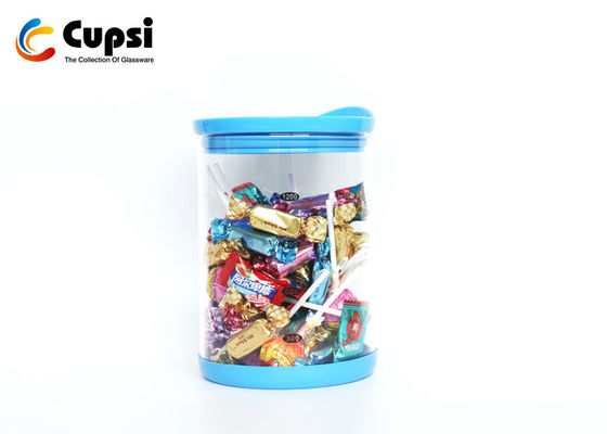 Food Storage Airtight Glass Canisters With Silicone Lid Protective Base Eco Friendly