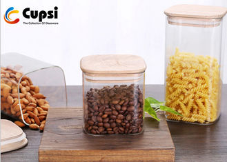 Bamboo Lid Airtight Food Storage Canisters BPA Free High Borosilicate