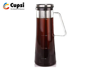Premium  Removable Filter Hot And Cold Brew Coffee Maker 1000ml Borosilicate  Glass Airtight Seal