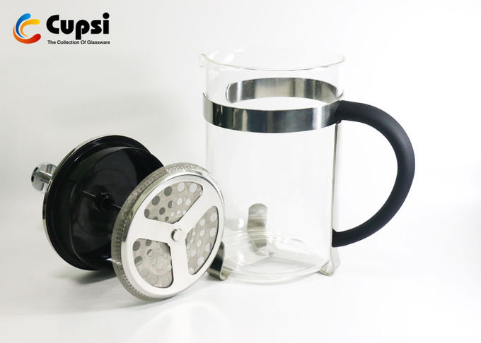 1500ml 201 Stainless Steel French Press Reviews Borosicilicate Glass Heatproof